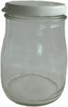 Kozarec za jogurt, pokrov pvc bel